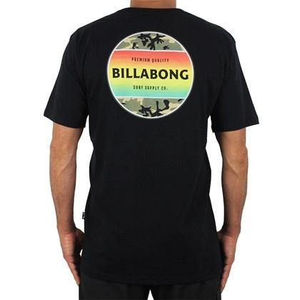 Camiseta Billabong Fire Camo Black