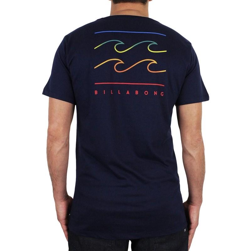 Camiseta Billabong Flat Line Azul Marinho