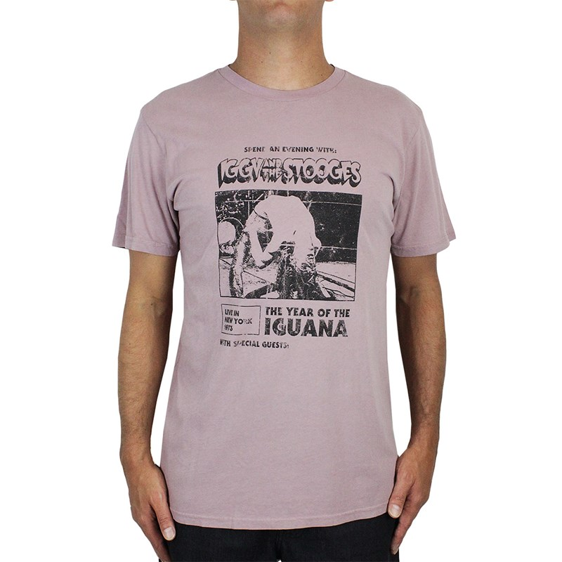 Camiseta Billabong Iggy Pop Iguana Rose