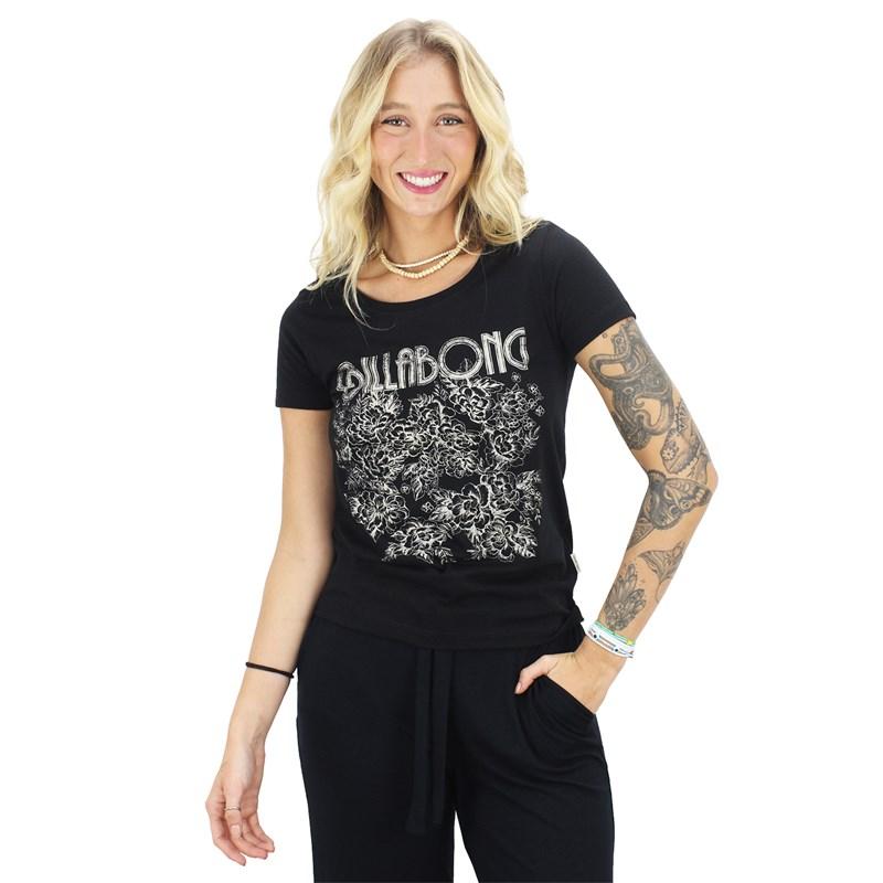 Camiseta Billabong Long Run Black