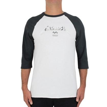 Camiseta Billabong Master Of Puppets Vintage White Black