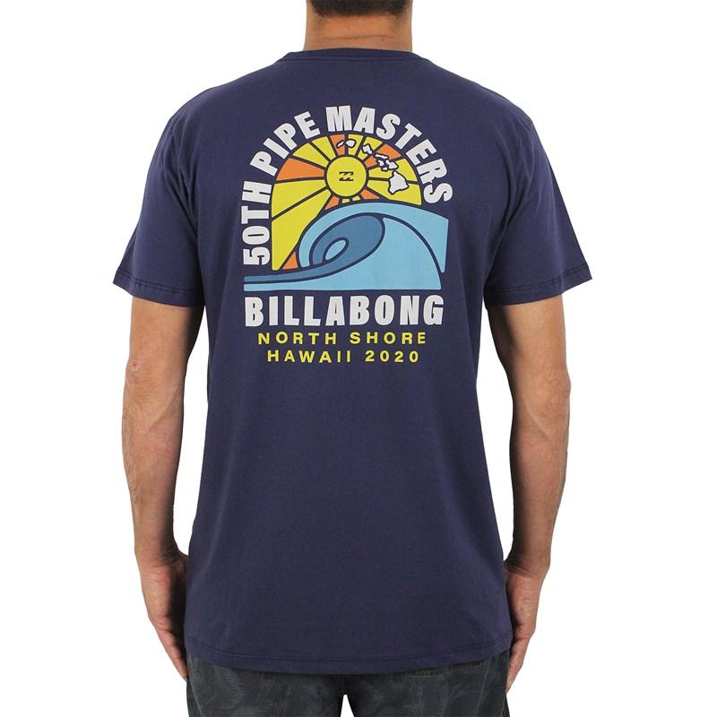 Camiseta Billabong Pipe Masters Wave Azul Marinho
