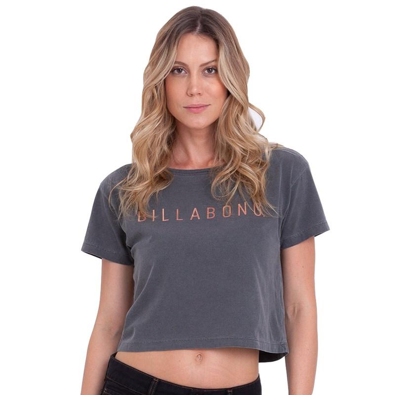 Camiseta Billabong Vintage Billa Cinza Chumbo