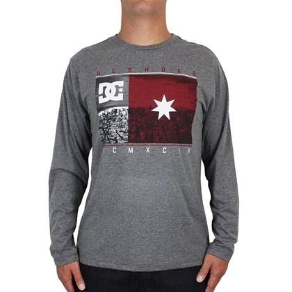 Camiseta DC Shoes Core USA Manga Longa Dark Grey