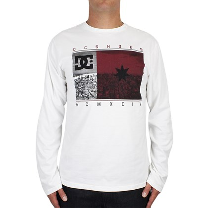 Camiseta DC Shoes Core USA Manga Longa Snow White