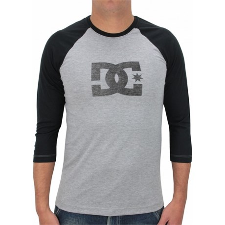 CAMISETA DC SHOES STAR RAGLAN MANGA LONGA HEATHER GREY