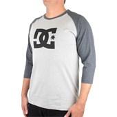 Camiseta DC Shoes Star Raglan Manga Longa Mescla e Grafite
