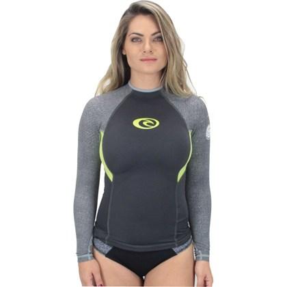 Camiseta de Lycra Rip Curl G - Bomb Feminina Grey Yellow