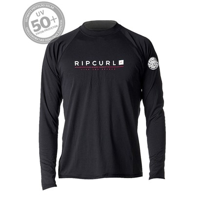 Camiseta de Lycra Rip Curl Shockwave Relaxed Black