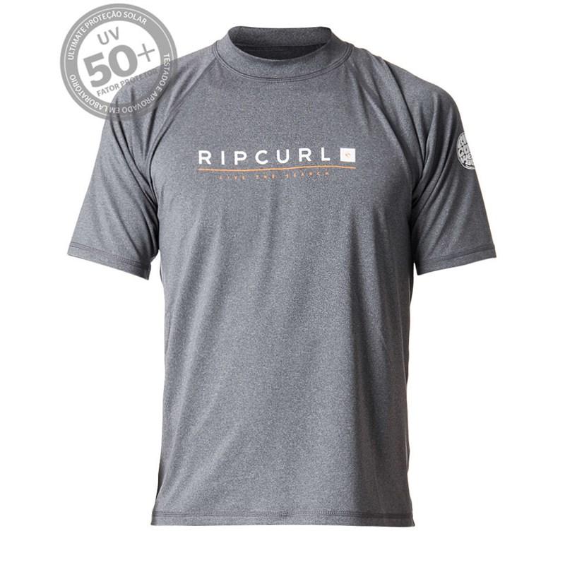 Camiseta de Lycra Rip Curl Shockwave Relaxed Grey Marle