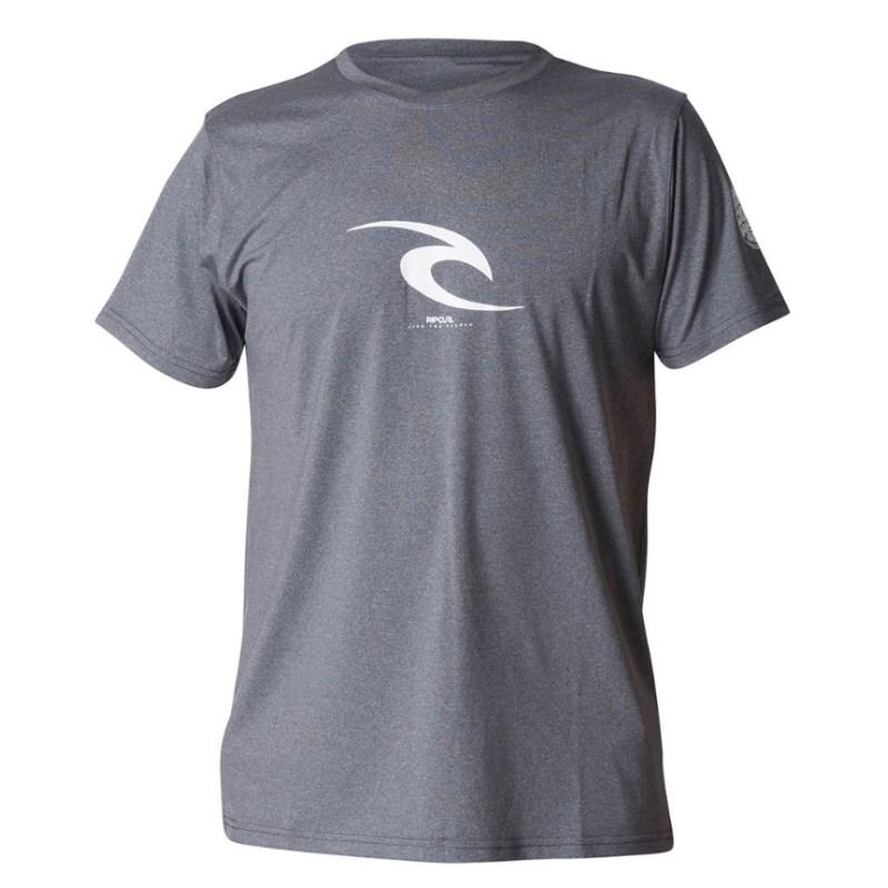 Camiseta de Lycra UV Rip Curl Icon Dark Grey Marle