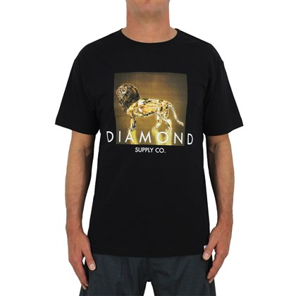 Camiseta Diamond Geo Lion Black