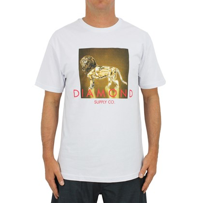 Camiseta Diamond Geo Lion White