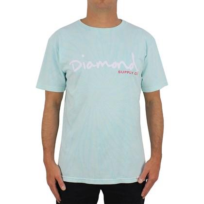 Camiseta Diamond Og Script Tie Dye Diaond Blue