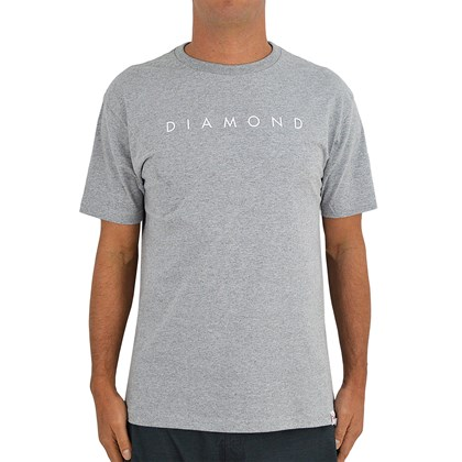 Camiseta Diamond Supply Leeway Heather Grey