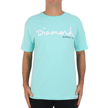 Camiseta Diamond Supply OG Script Blue