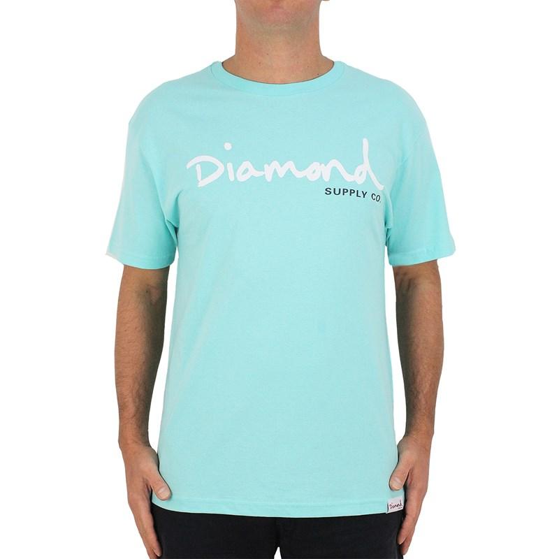 Camiseta Diamond Supply OG Script Blue