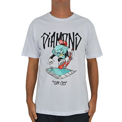 Camiseta Diamond Supply Pool White