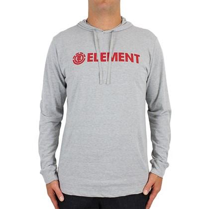 Camiseta Element Blazin Manga Longa Cinza Mescla