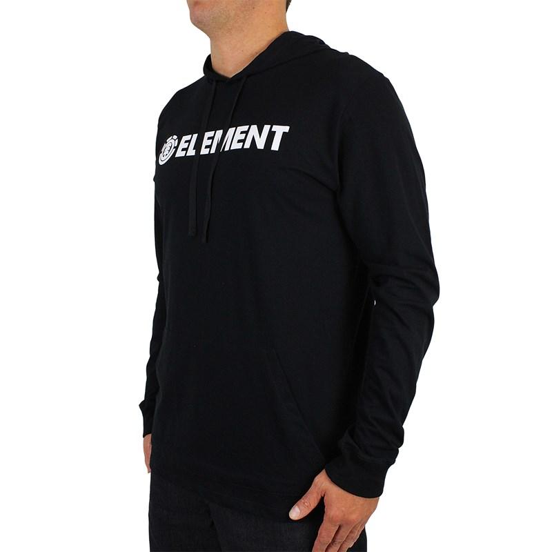 Camiseta Element Blazin Manga Longa Preta