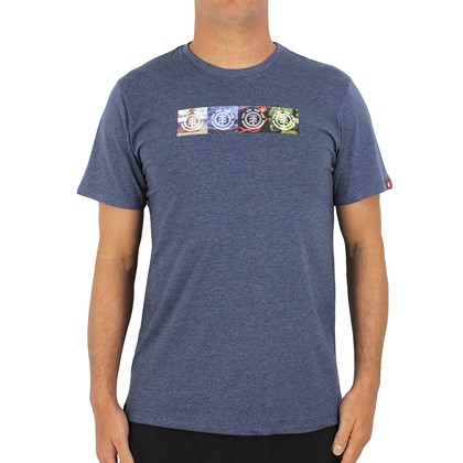 Camiseta Element Nat Geo Horizontal Seasons Marinho Mescla