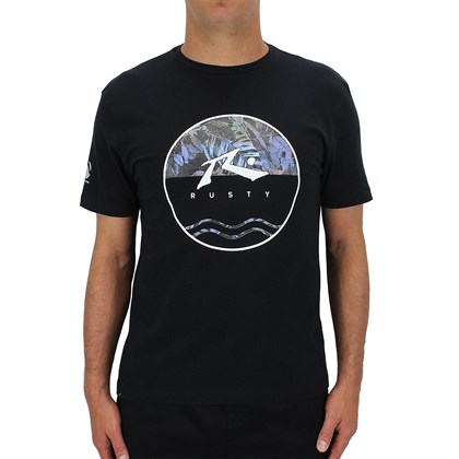 CamisetaEspecialRustyAmphibious Botanic Black