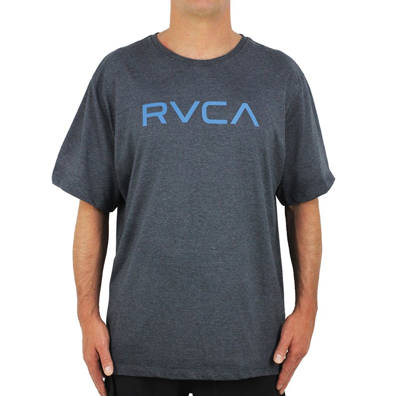 Camiseta Extra Grande Big RVCA Cinza Mescla