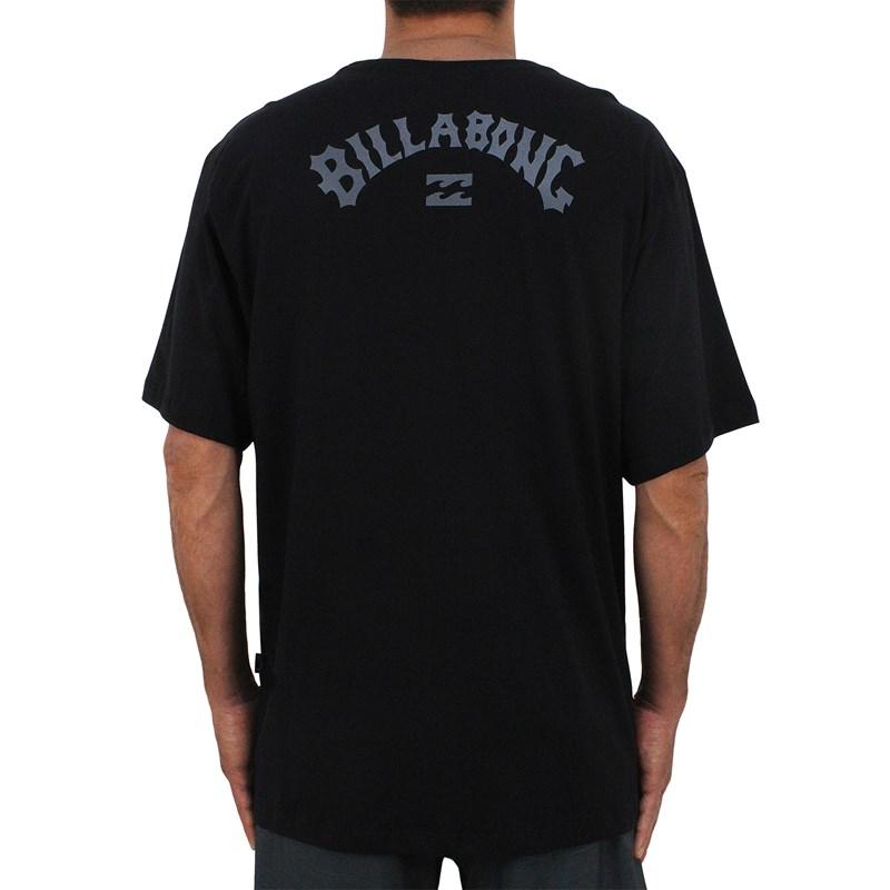 Camiseta Extra Grande Billabong Arch Wave Black