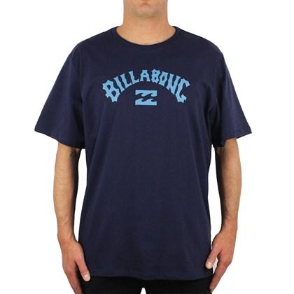 Camiseta Extra Grande Billabong Arch Wave Navy