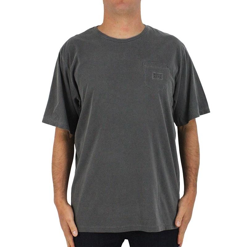 Camiseta Extra Grande Billabong Die Cut III Cinza Escuro