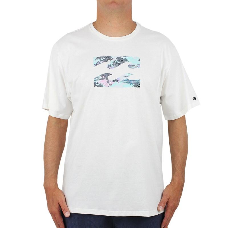 Camiseta Extra Grande Billabong Team Punta Roco Off White