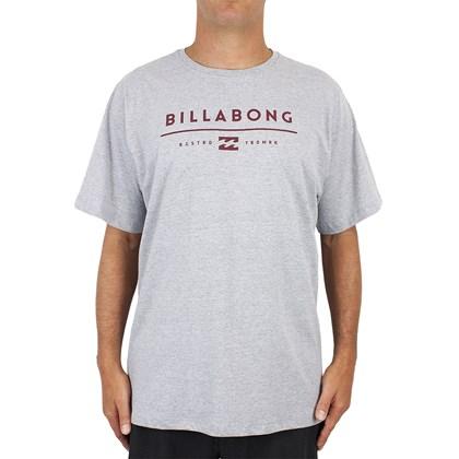 Camiseta Extra Grande Billabong Unity Cinza Mescla