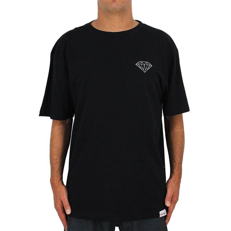 Camiseta Extra Grande Diamond Brilliant Black