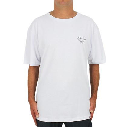Camiseta Extra Grande Diamond Brilliant White