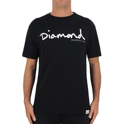 Camiseta Extra Grande Diamond OG Script Black