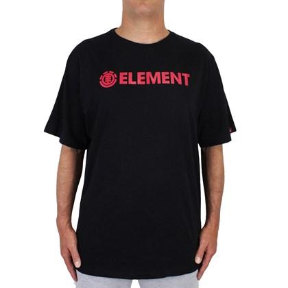 Camiseta Extra Grande Element Blazin Preta