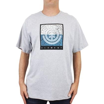 Camiseta Extra Grande Element Cast Cinza Mescla