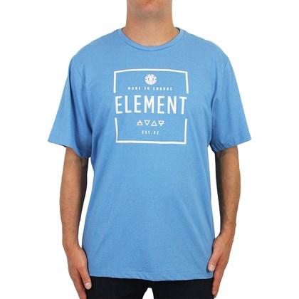 Camiseta Extra Grande Element Edge Azul Mescla