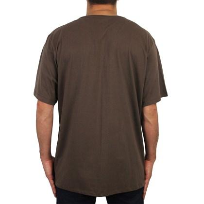 Camiseta Extra Grande Element Glimpse Horizontal Marrom
