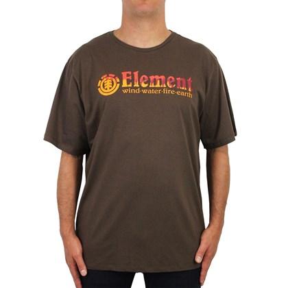 9ab5a60812de1 Camiseta Extra Grande Element Glimpse Horizontal Marrom ...