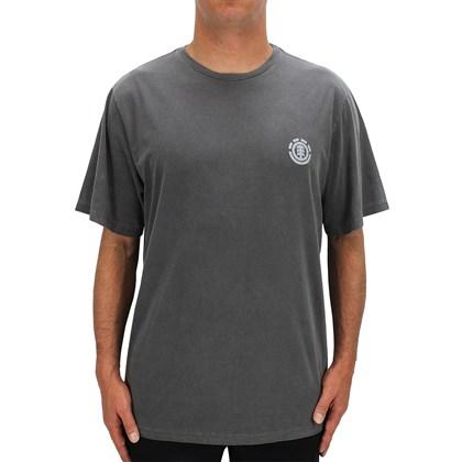 Camiseta Extra Grande Element Team Tees Cinza Escuro