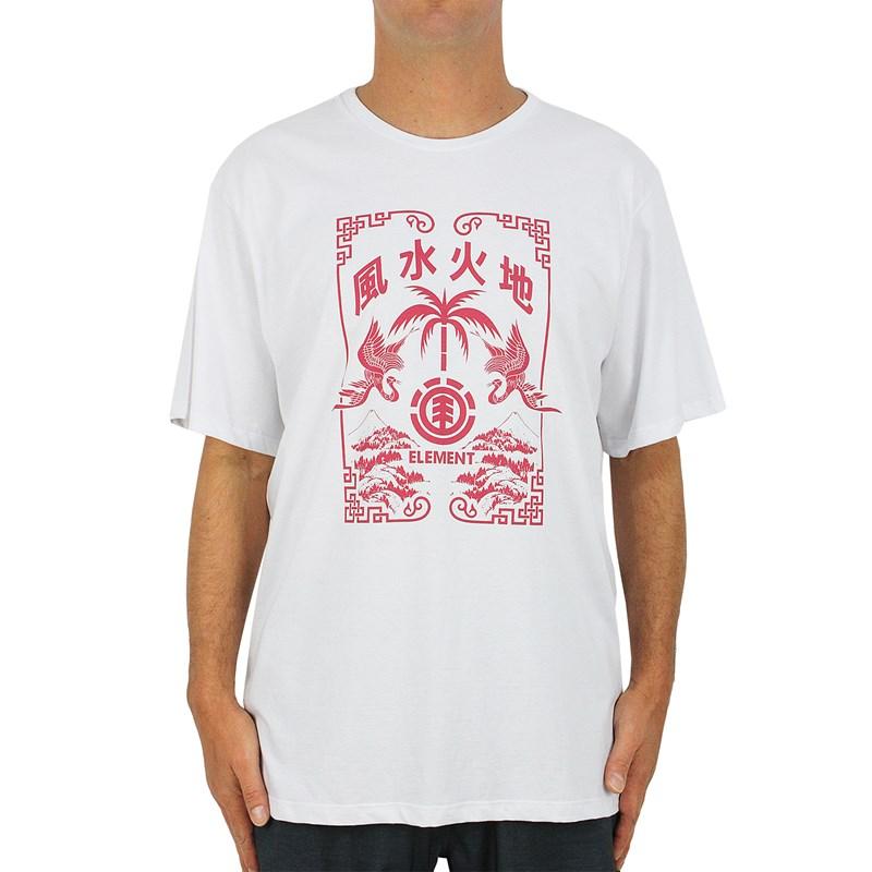 Camiseta Extra Grande Element Woodcut White