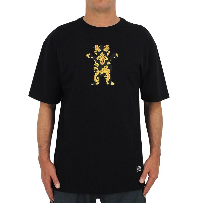 Camiseta Extra Grande Grizzly Gold Leaf Bear Black
