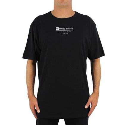 Camiseta Extra Grande Hang Loose Lettering Black