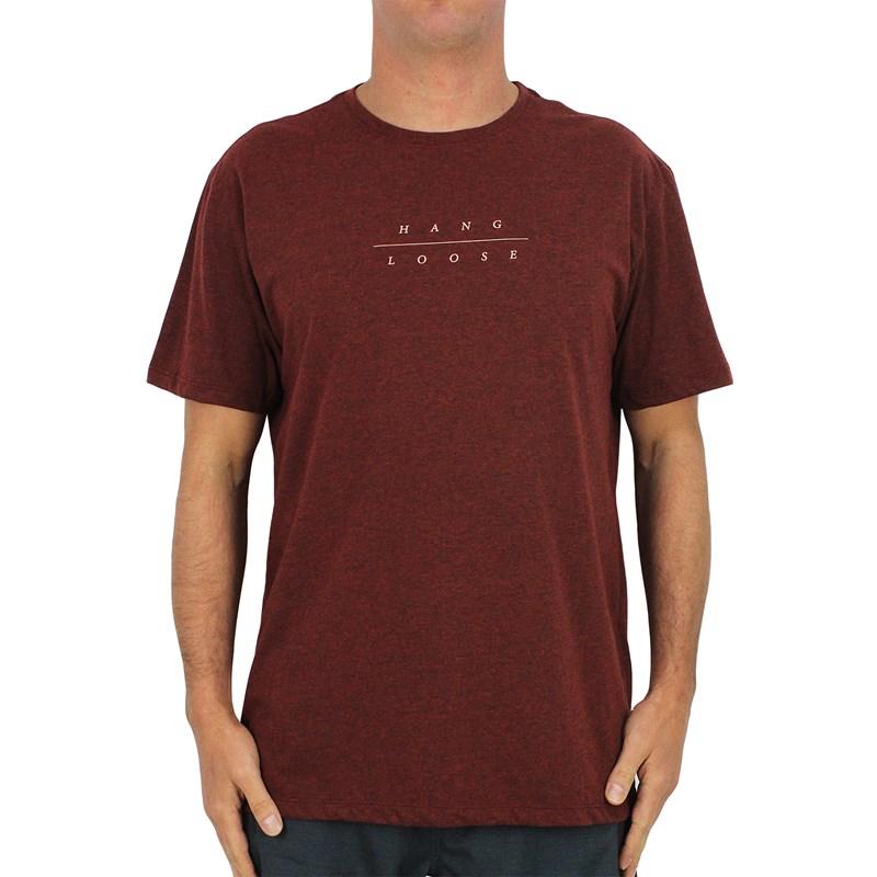 Camiseta Extra Grande Hang Loose Peon Mescla Vermelho
