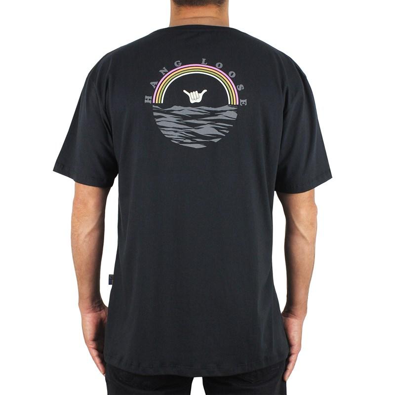 Camiseta Extra Grande Hang Loose Rainbow Black
