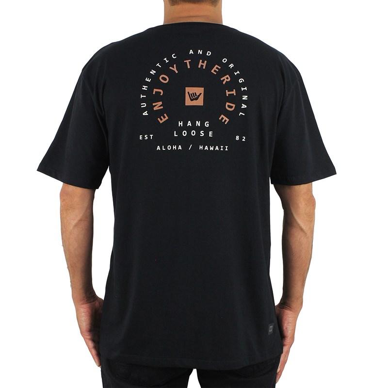 Camiseta Extra Grande Hang Loose Ride Black