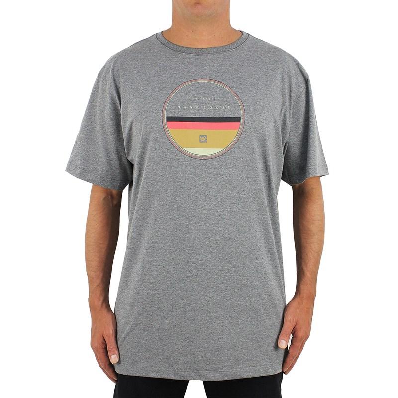 Camiseta Extra Grande Hang Loose Stripeset Mescla Grafite