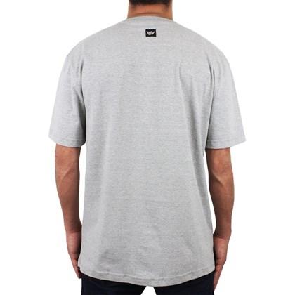 Camiseta Extra Grande Hang Loose Watworld Cinza Mescla