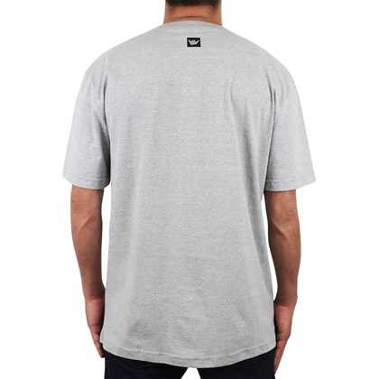 Camiseta Extra Grande Hang Loose Watworld Cinza Mescla